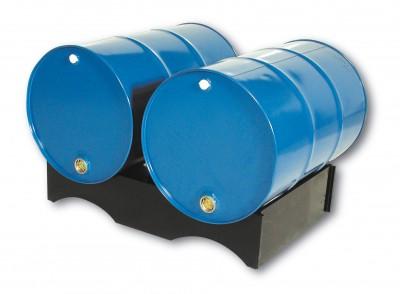 01800025 - Fasspalette aus PE-HD, für 2 Stück 200l-Fässer