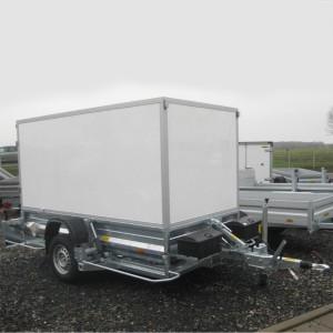02200002 - PKW-Anhänger absenkbar, Einachs-Anhänger mit Kofferaufbau