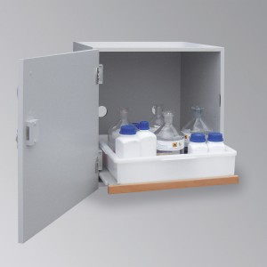 03200006 - Säuren- und Laugen-Abzugsunterschrank Bauhöhe 600mm, Breite 600mm, DIN L