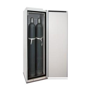 03200010 - Sicherheitsschrank für Druckgasflaschen, Bauhöhe 2015mm, für bis zu 2 Stück 50l-Gasflaschen