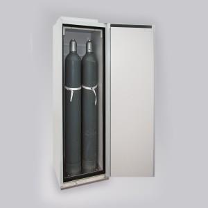 0320001006 - Sicherheitsschrank für Druckgasflaschen, Bauhöhe 2015mm, für bis zu 4 Stück 50l-Gasflaschen