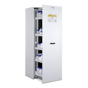 03200017 - Chemikalienschrank mit Apothekerauszügen, Bauhöhe 1950mm, Schrankbreite 600mm, 1 Stück Auszugstür