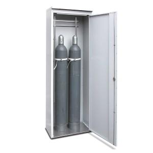 03200022 - TRG-Zelle, Bauhöhe 2150mm, für bis zu 2 Stück 50l-Druckgasflaschen, 1 Stück Flügeltür DIN R, komplett aus Stahlblech