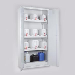 03200046 - Chemikalienschrank für Kanister, Bauhöhe 1950mm, Breite 950mm mit Ganzstahltüren lichtgrau