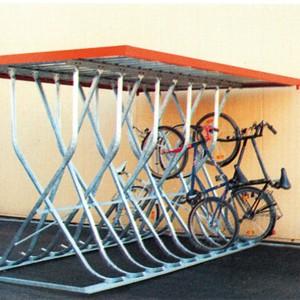 03800074 - Fahrrad-Kufenparker freistehend, mit Flachdach