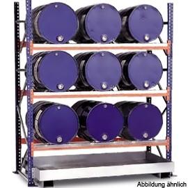 03800092 - Steckregal mit Auffangwanne für 60l-Fässer - Grundeinheit