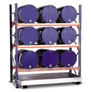 03800093 - Steckregal mit Auffangwanne für 200l-Fässer - Grundeinheit