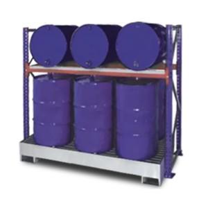 03800095 - Steckregal mit Auffangwanne und Gitterrost für 200l-Fässer - Grundeinheit