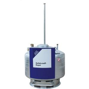 07000014 - Gefahrstoffdepot für elh-Flüssigkeiten, verzinkt, doppelwandig, 250l