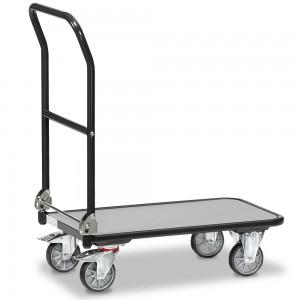 01600912 - Fetra Transportwagen mit klappbarem Schiebebügel, Grey Edition