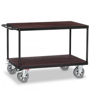 01600921 - Fetra Schwerlast-Tischwagen mit zwei Ebenen, Grey Edition