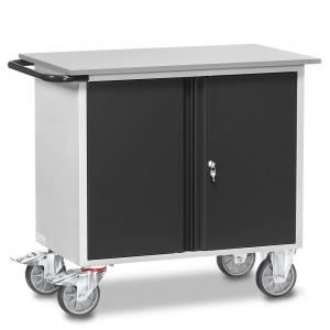 01600924 - Fetra Werkstattwagen mit zwei Schränken, abschließbar, Grey Edition
