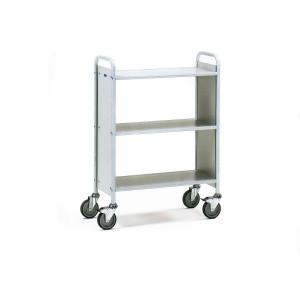 01600244 - Büro- Transportwagen mit drei Ebenen und zwei Seitenwänden