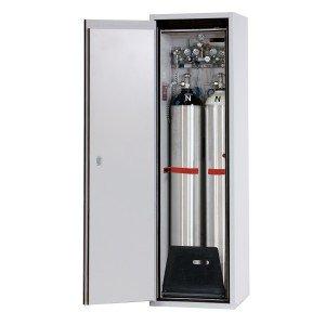 00500044 - Druckgasflaschenschrank Typ 90- Breite 600mm, Türfarbe grau oder gelb, DIN L oder DIN R, G-Ultimate-90