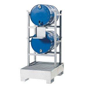 00500144 - Abfüll-/Lagerstation, 205l, Stahl verzinkt für 2x60l-Fässer oder 2x200l-  Fässer / 3x60l-Fässer und 2x200l-Fässer - je nach Modell