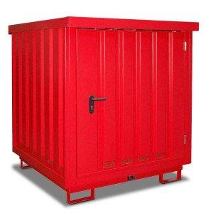 00600065 - Gefahrstoff-Depot, 205l, 230l bzw. 1000l, verzinkt, für 2 Stück oder 4 Stück 200l-Fässer, oder 1 Stück 1000l-IBC