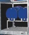 00600223 - Fassauflage aus Stahl für 2 Stück 60l Fässer