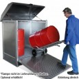 00600230 - Gefahrstoff-Depot aus Stahl, für den Innen- und Außenbereich, für 2 Stück oder 4 Stück 200l-Fässer