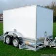 02200005 - PKW-Anhänger absenkbar, Tandem-Anhänger mit Kofferaufbau