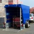02200001 - PKW-Anhänger absenkbar, Einachs-Anhänger mit Plane und Spriegel