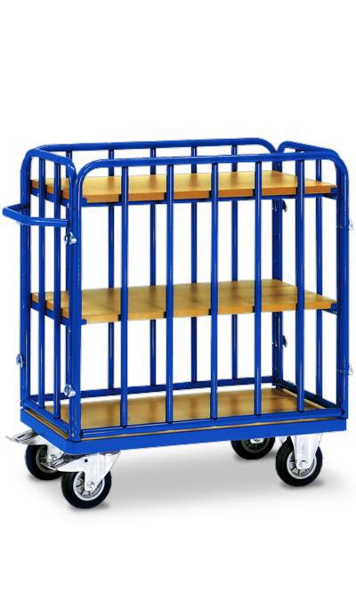 etagen transportwagen mit drei ebenen und vier w nden online kaufen etagenwagen mit 3 b den. Black Bedroom Furniture Sets. Home Design Ideas