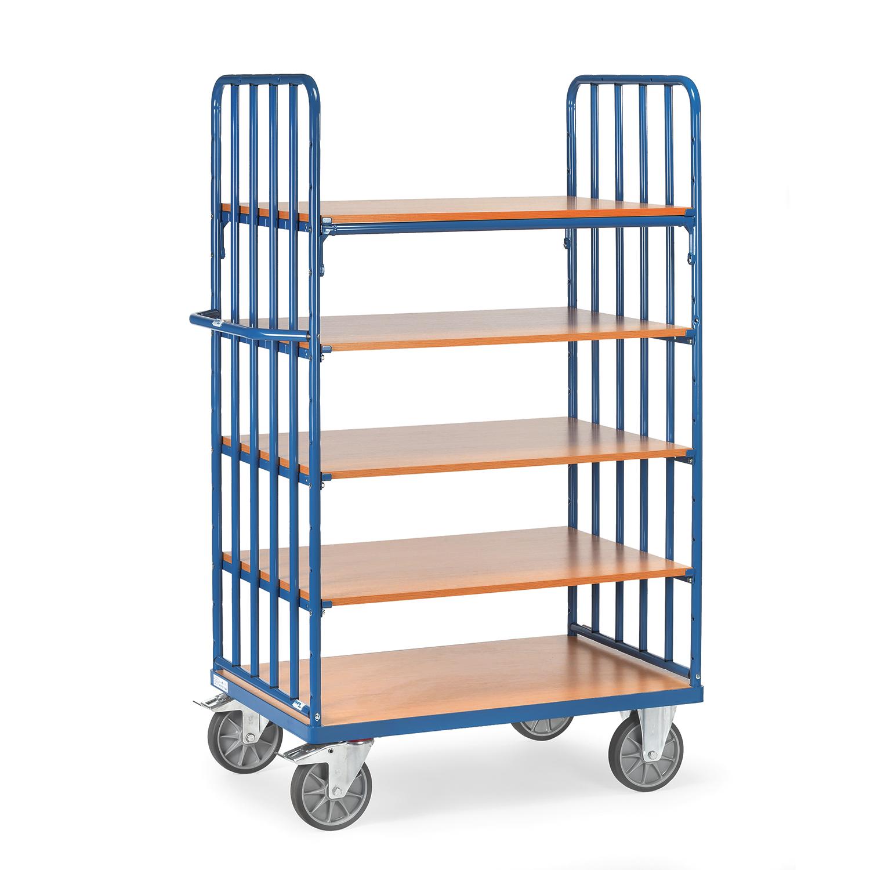 etagen transportwagen tragkraft 600 kg online kaufen etagenwagen mit 5 b den bestellen. Black Bedroom Furniture Sets. Home Design Ideas