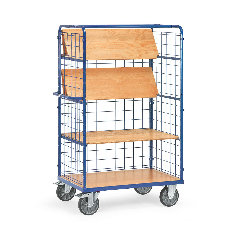 etagenwagen mit faltbaren etagenb den tragkraft 600kg online kaufen etagenwagen mit 4 b den. Black Bedroom Furniture Sets. Home Design Ideas