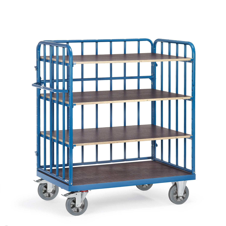 etagen transportwagen mit vier ebenen online kaufen etagenwagen mit 4 b den bestellen. Black Bedroom Furniture Sets. Home Design Ideas