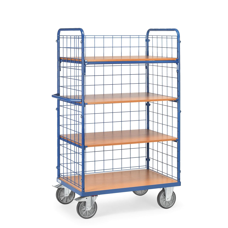 etagenwagen mit b den mit 4 b den und 3 drahtgitterw nden online kaufen etagenwagen mit 4. Black Bedroom Furniture Sets. Home Design Ideas