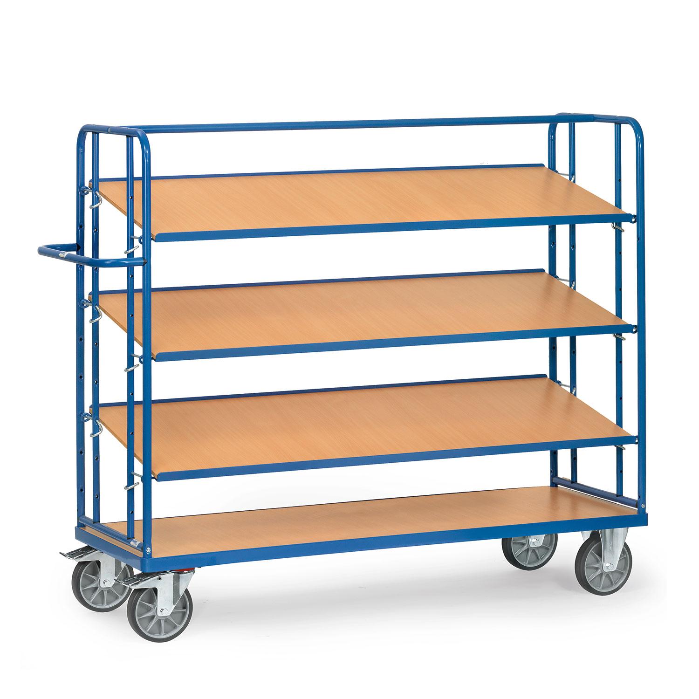 etagen transportwagen mit verstellbaren b den online kaufen etagenwagen mit 4 b den bestellen. Black Bedroom Furniture Sets. Home Design Ideas