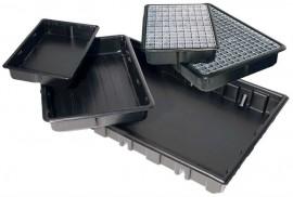 auffangwanne aus pe 41 140l mit oder ohne stellebene. Black Bedroom Furniture Sets. Home Design Ideas